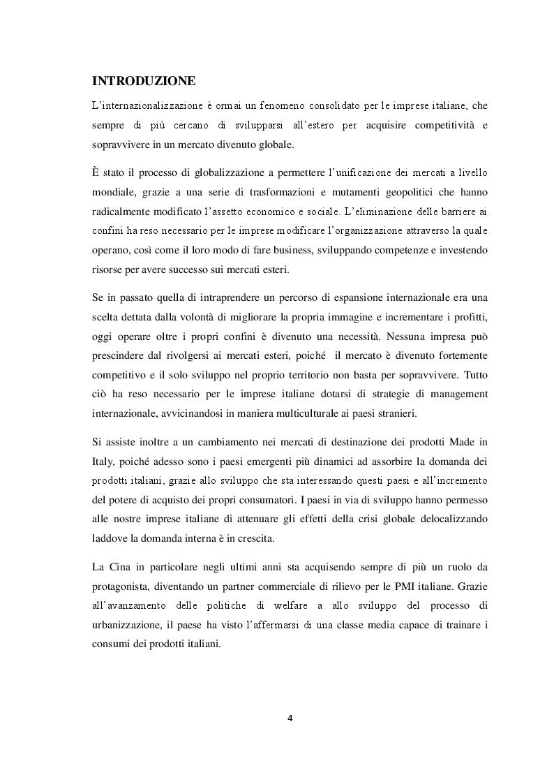 Anteprima della tesi: Qualità e strategie di internazionalizzazione delle PMI italiane: i risultati di un'indagine empirica sul settore arredo, Pagina 2