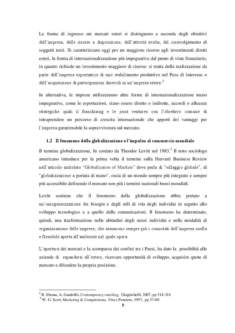 Anteprima della tesi: Qualità e strategie di internazionalizzazione delle PMI italiane: i risultati di un'indagine empirica sul settore arredo, Pagina 6