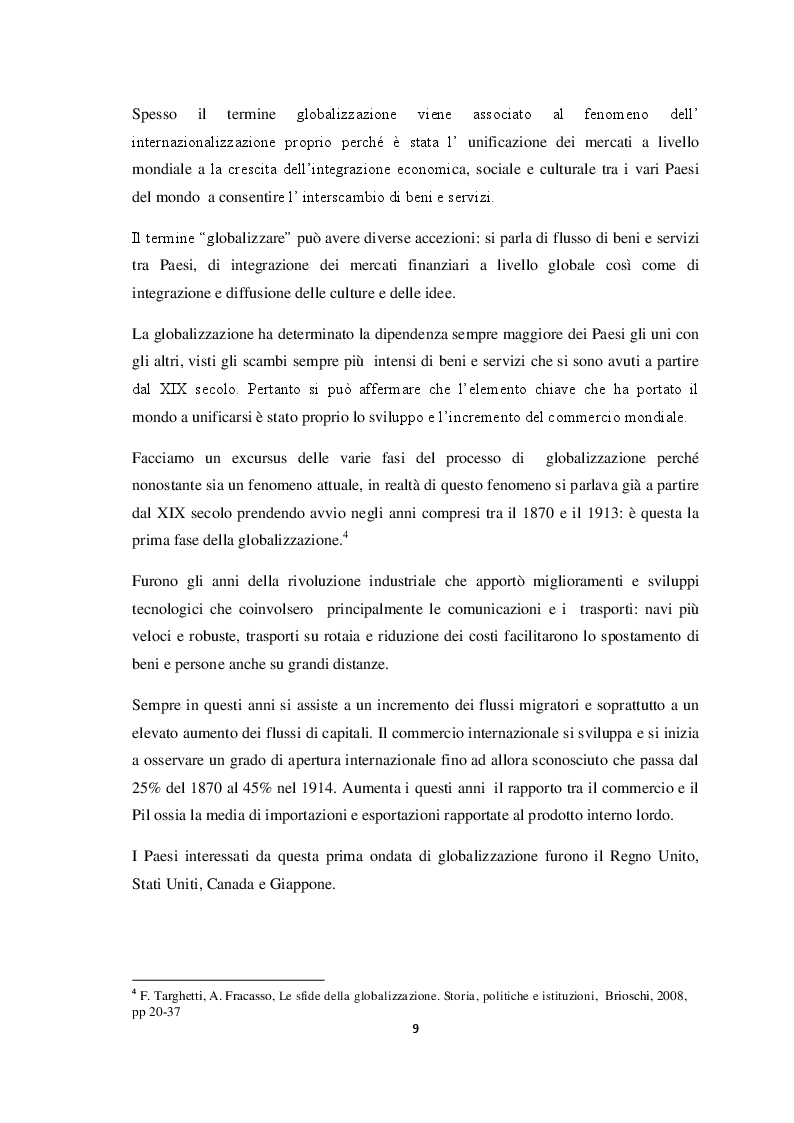 Anteprima della tesi: Qualità e strategie di internazionalizzazione delle PMI italiane: i risultati di un'indagine empirica sul settore arredo, Pagina 7