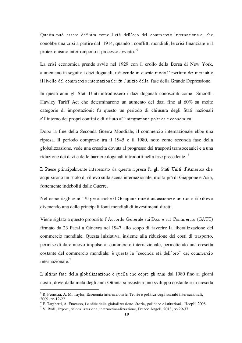 Anteprima della tesi: Qualità e strategie di internazionalizzazione delle PMI italiane: i risultati di un'indagine empirica sul settore arredo, Pagina 8
