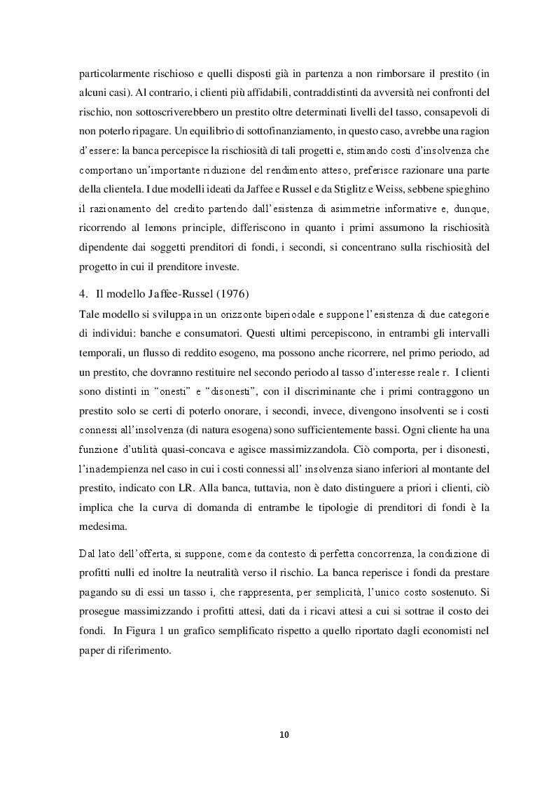 Estratto dalla tesi: Il razionamento del credito in italia durante la crisi finanziaria