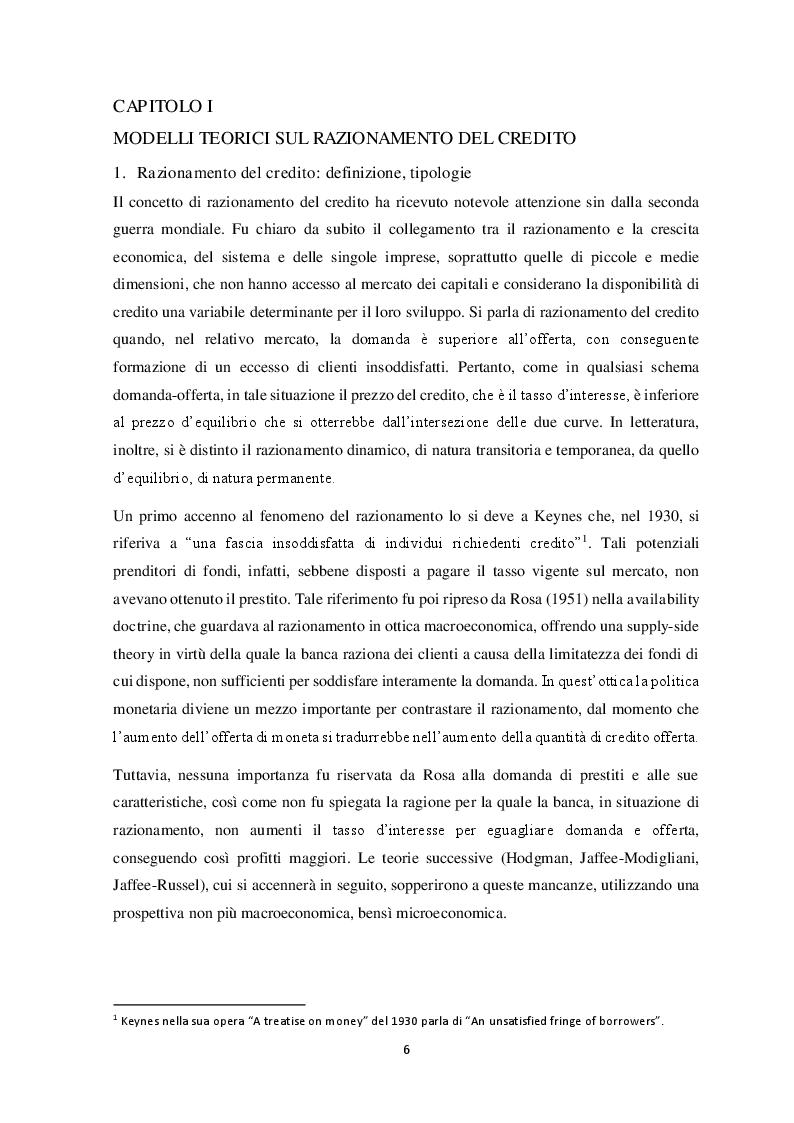 Anteprima della tesi: Il razionamento del credito in italia durante la crisi finanziaria , Pagina 4