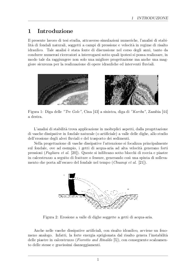 Anteprima della tesi: Analisi di stabilità di fondi naturali soggetti a campi fluttuanti di velocità e pressione, Pagina 3