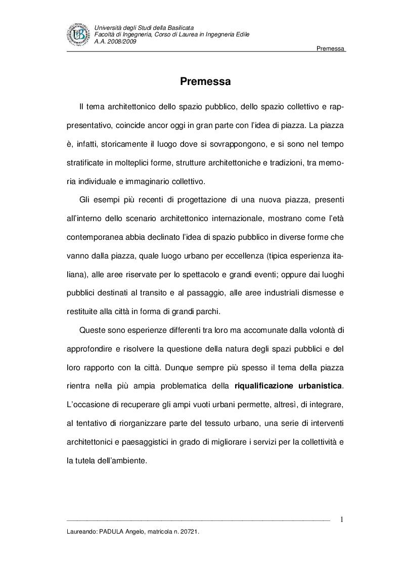 Anteprima della tesi: Evoluzione di uno spazio urbano tra storia e progetti: ''Piazza della Visitazione'' a Matera, Pagina 2