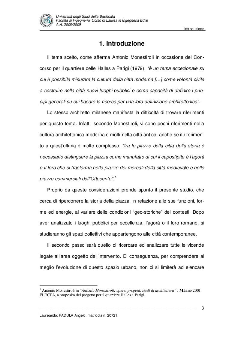 Anteprima della tesi: Evoluzione di uno spazio urbano tra storia e progetti: ''Piazza della Visitazione'' a Matera, Pagina 4
