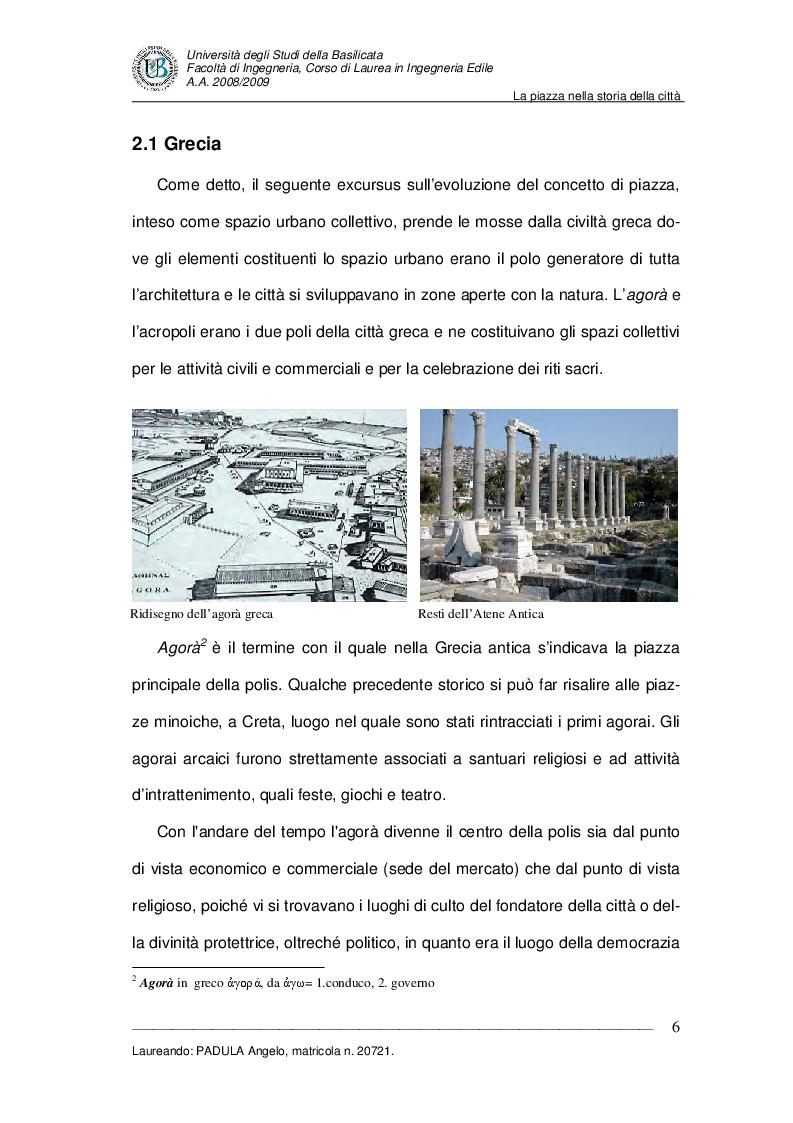 Anteprima della tesi: Evoluzione di uno spazio urbano tra storia e progetti: ''Piazza della Visitazione'' a Matera, Pagina 7
