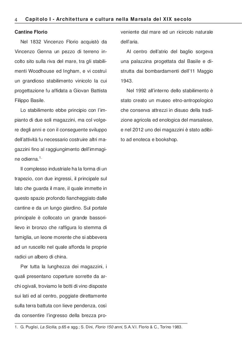 Anteprima della tesi: La Villa Ingham-Whitaker a Marsala: ricerca storica e restauro, Pagina 4