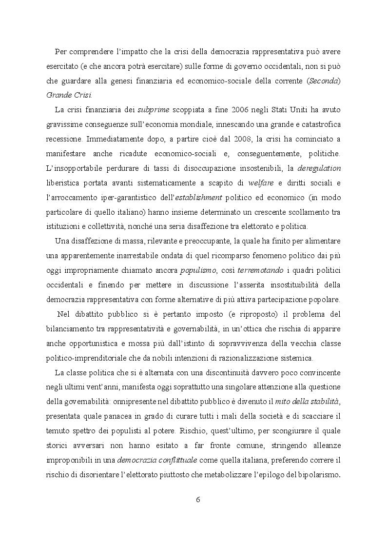Anteprima della tesi: L'evoluzione del sistema elettorale nell'ordinamento costituzionale italiano. Il ruolo della Corte costituzionale, Pagina 4
