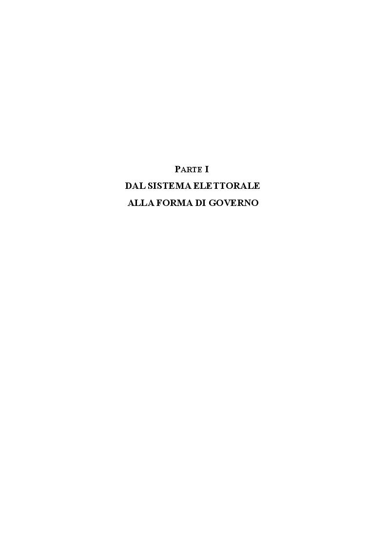 Anteprima della tesi: L'evoluzione del sistema elettorale nell'ordinamento costituzionale italiano. Il ruolo della Corte costituzionale, Pagina 6