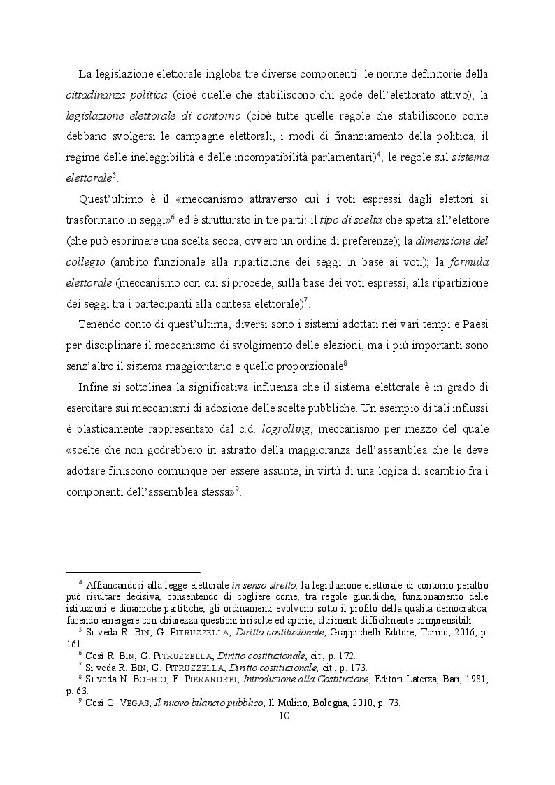 Anteprima della tesi: L'evoluzione del sistema elettorale nell'ordinamento costituzionale italiano. Il ruolo della Corte costituzionale, Pagina 8
