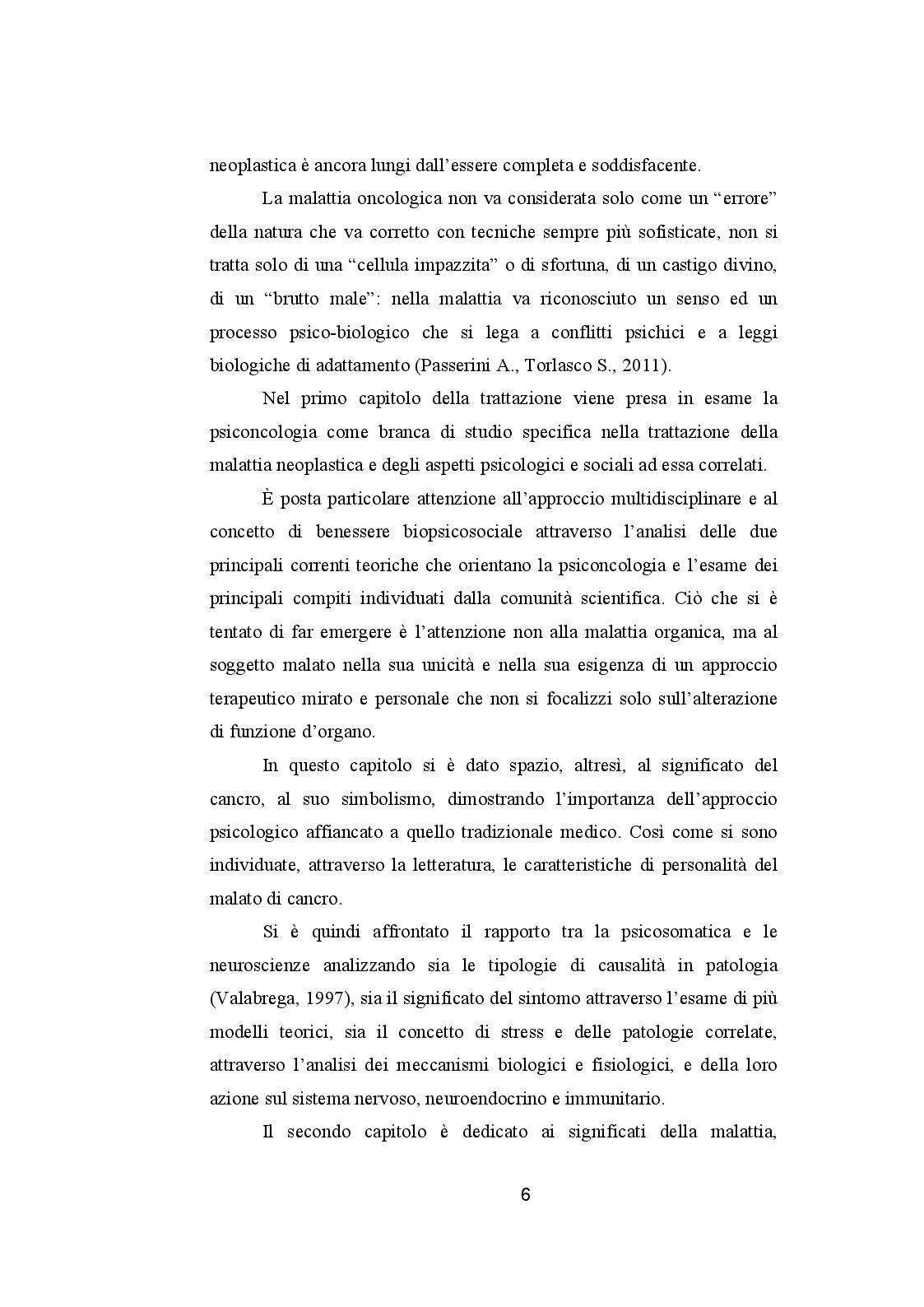 Anteprima della tesi: CANCRO ED EMOZIONI. Implicazioni psicologiche e socio-relazionali nella sindrome psiconeoplastica, Pagina 4