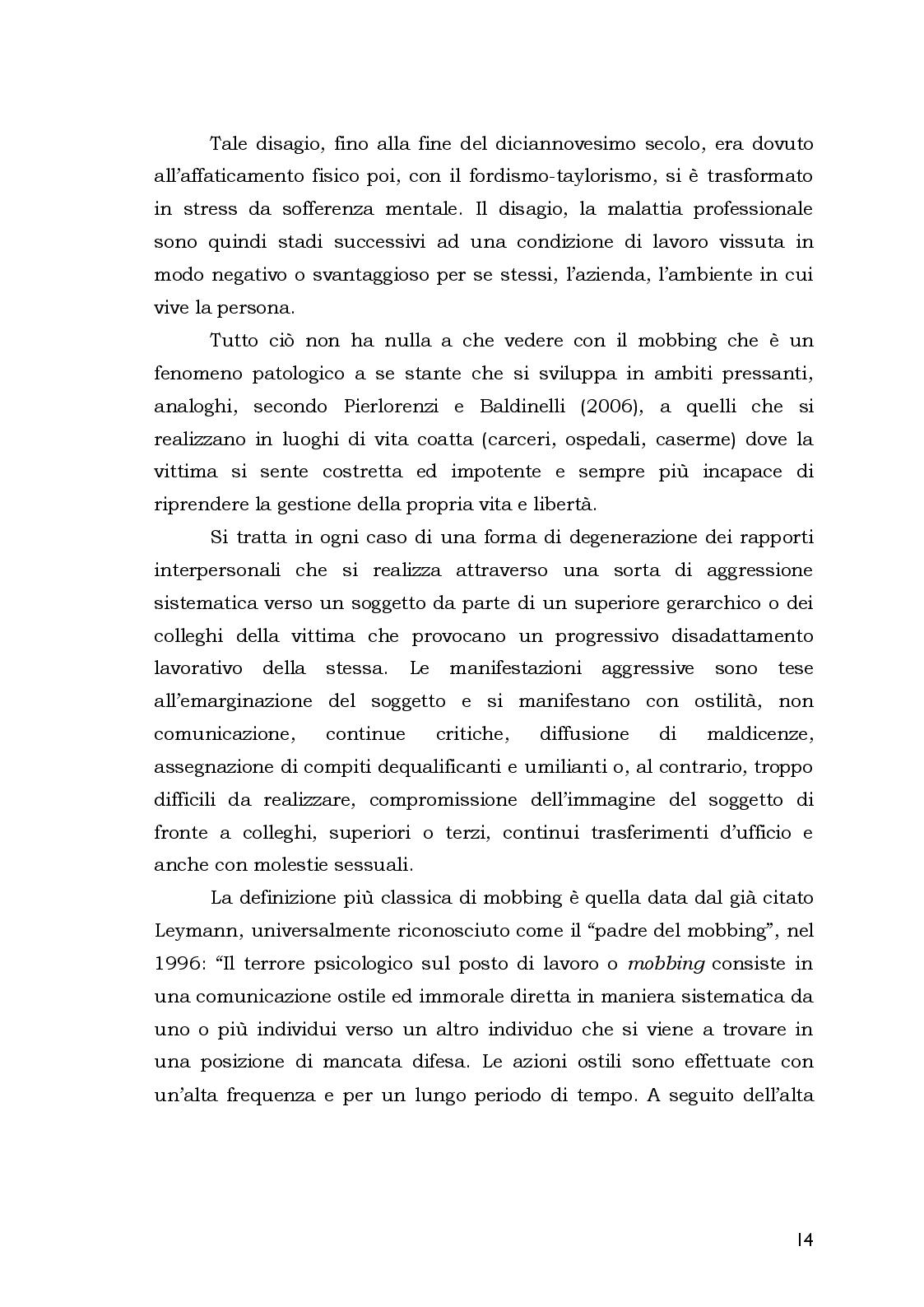 Estratto dalla tesi: Aspetti Psicosociali e Girudici del Mobbing nella Pubblica Amministrazione.  Analisi Comparata