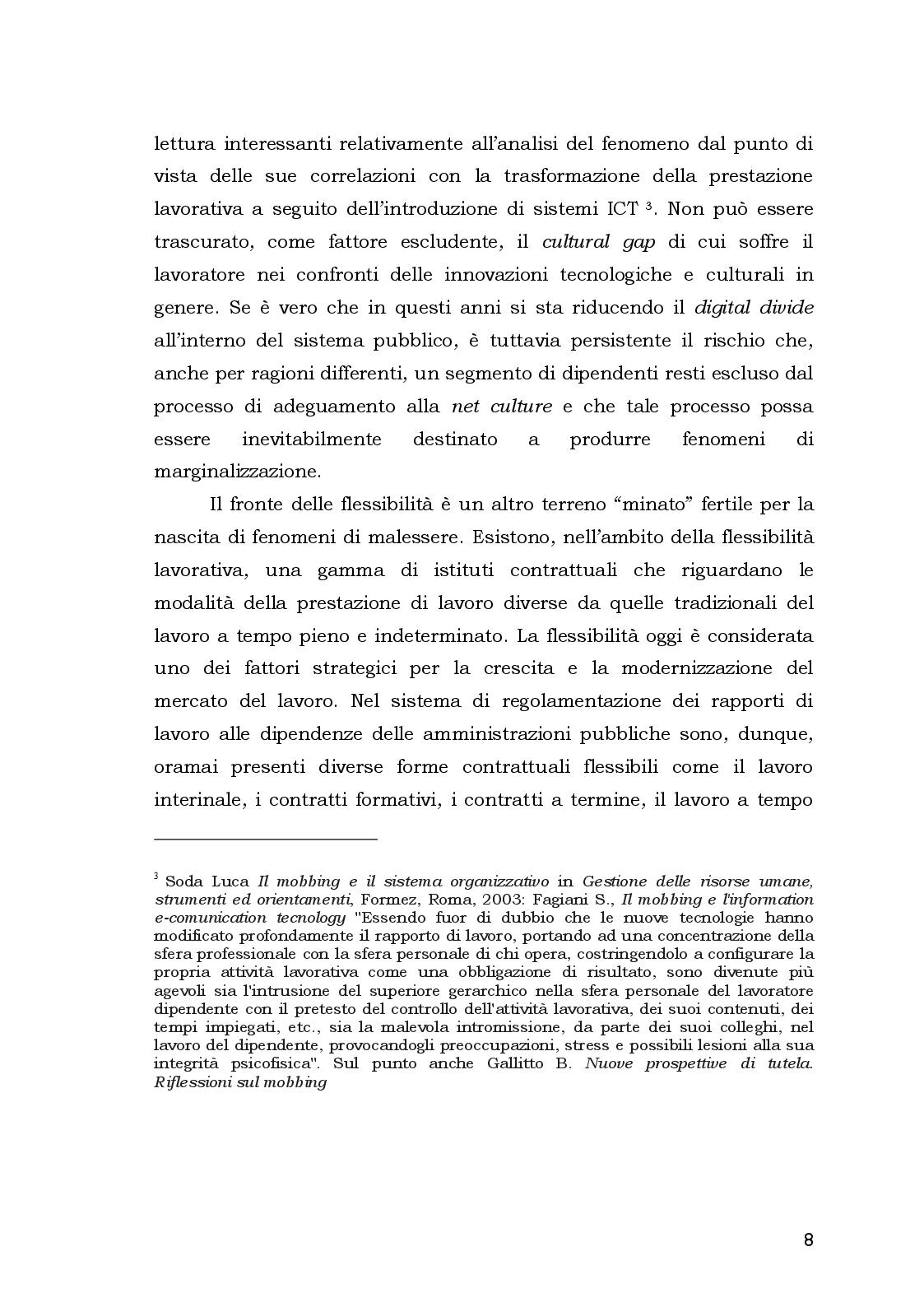 Anteprima della tesi: Aspetti Psicosociali e Girudici del Mobbing nella Pubblica Amministrazione.  Analisi Comparata, Pagina 8