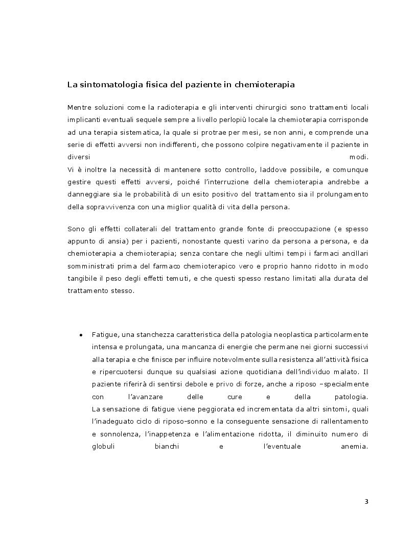 Anteprima della tesi: L'efficacia della relazione d'aiuto nella riduzione del distress psicologico del paziente con patologia oncologica sottoposto a terapia chemioterapica, Pagina 5