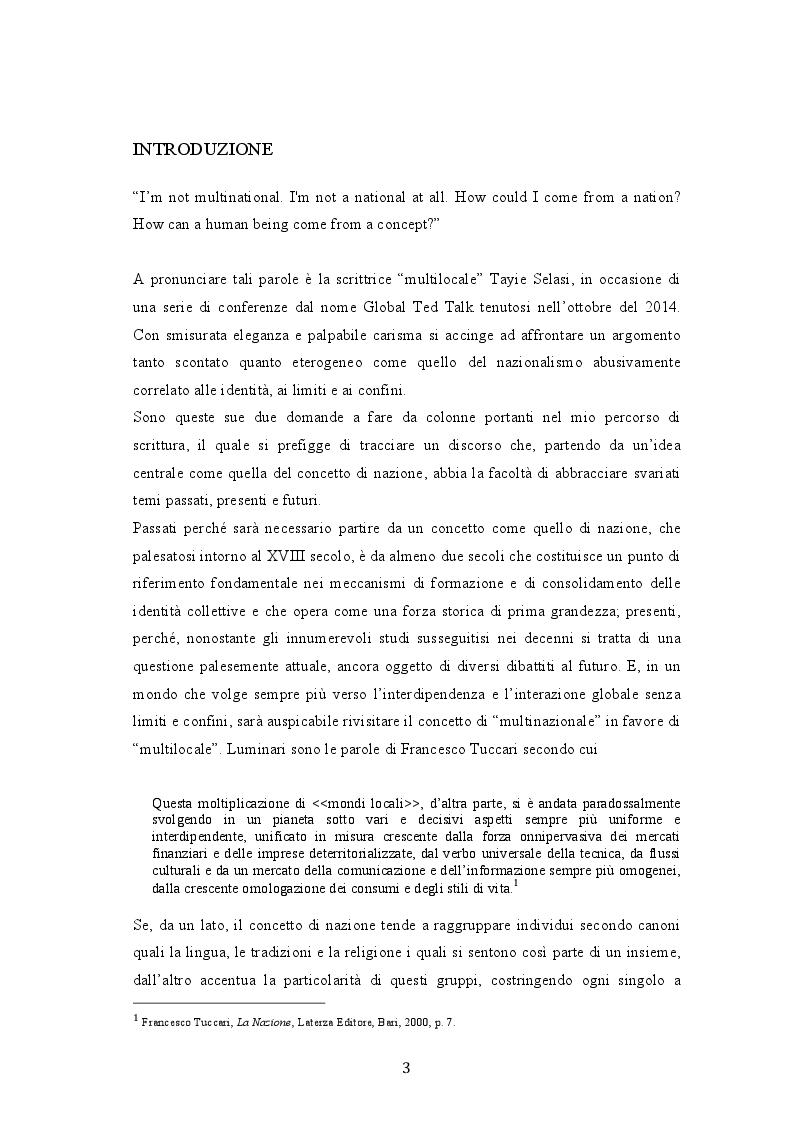 Anteprima della tesi: Dal multinazionale al multilocale: lo sguardo di Taiye Selasi , Pagina 2