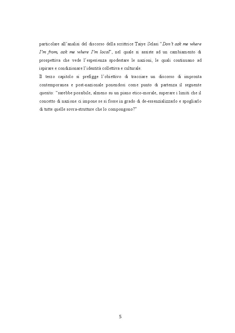 Anteprima della tesi: Dal multinazionale al multilocale: lo sguardo di Taiye Selasi , Pagina 4