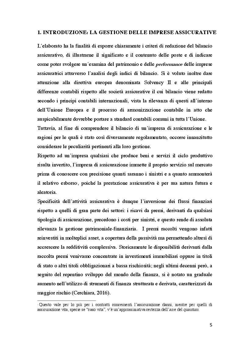 Anteprima della tesi: Il bilancio delle imprese assicurative secondo la normativa nazionale, Pagina 4