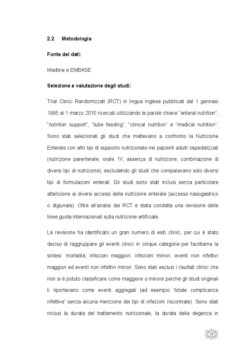 Anteprima della tesi: Nutrizione enterale e Nutrizione parenterale nel paziente ospedalizzato, valutazione clinica ed economica, Pagina 3