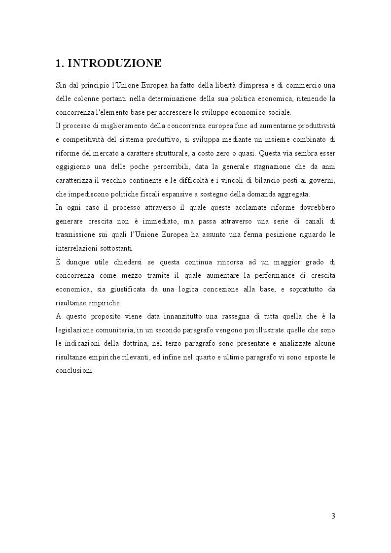Anteprima della tesi: Riforme pro concorrenziali e crescita della produttività nell'Unione Europea, Pagina 2
