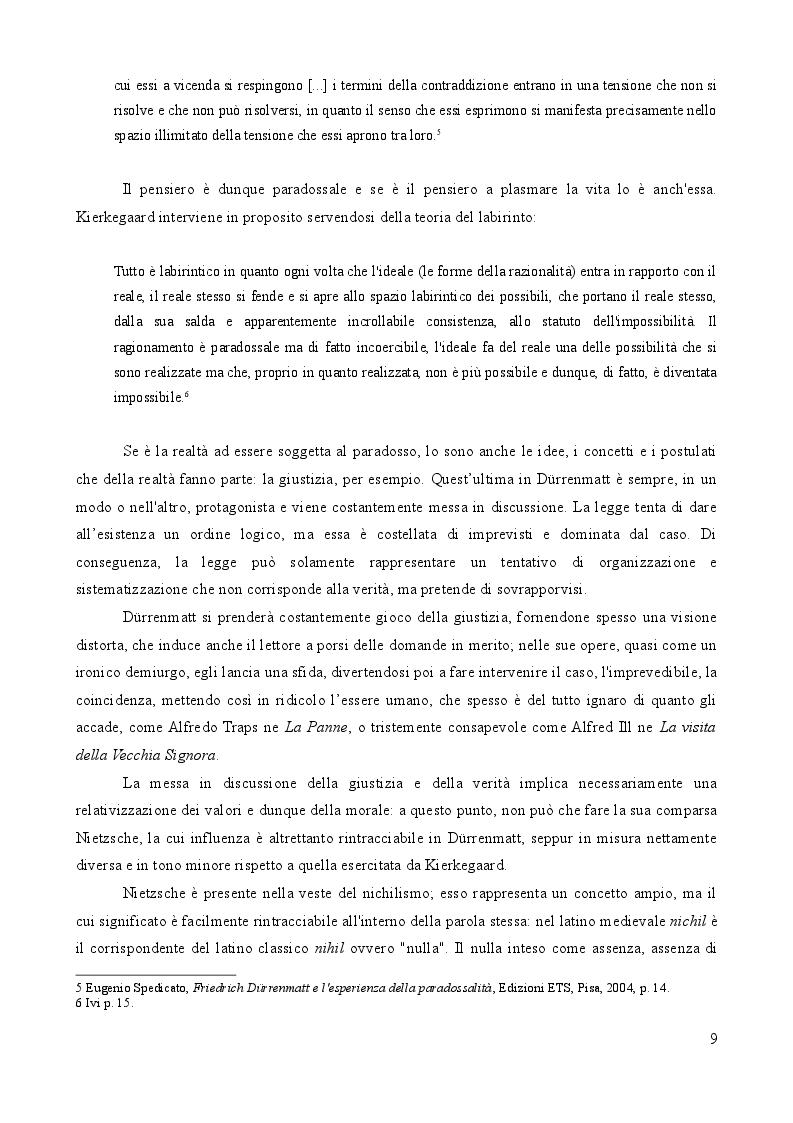 Estratto dalla tesi: L'importanza del caso. La vita secondo Friedrich Dürrenmatt.