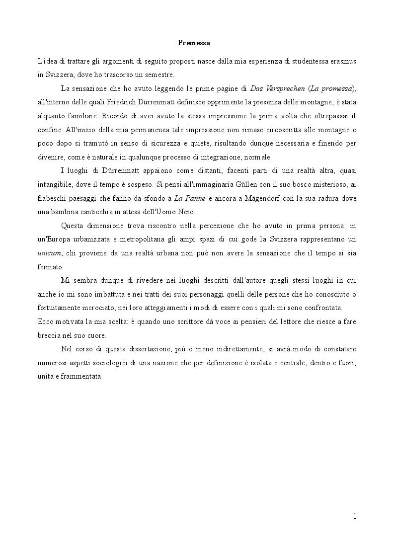 Anteprima della tesi: L'importanza del caso. La vita secondo Friedrich Dürrenmatt., Pagina 2