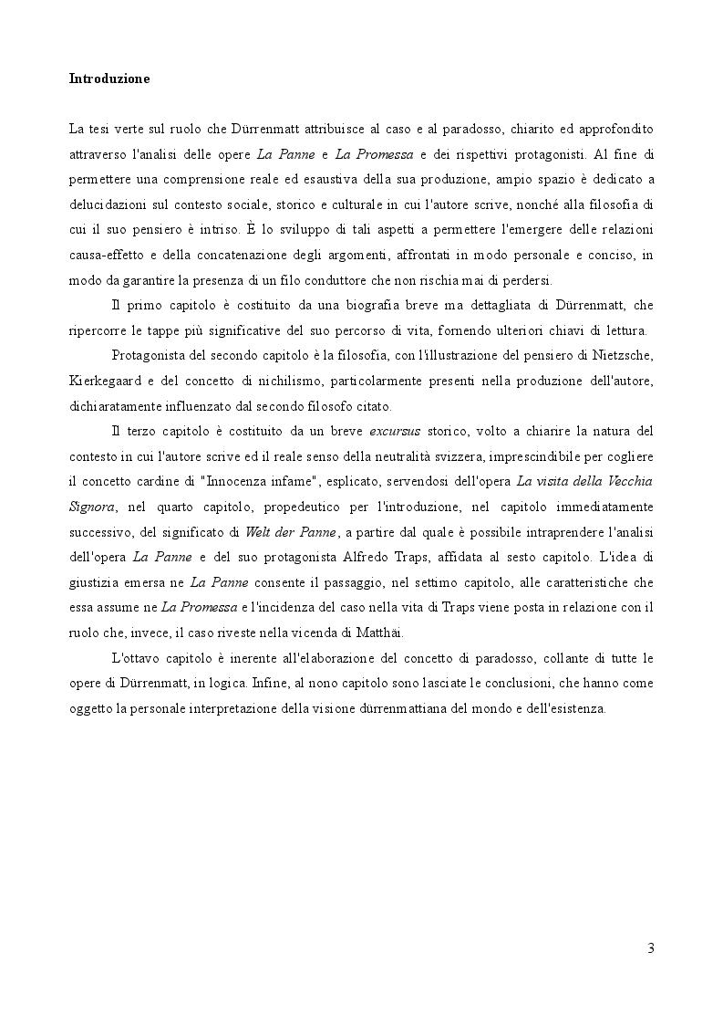 Anteprima della tesi: L'importanza del caso. La vita secondo Friedrich Dürrenmatt., Pagina 3