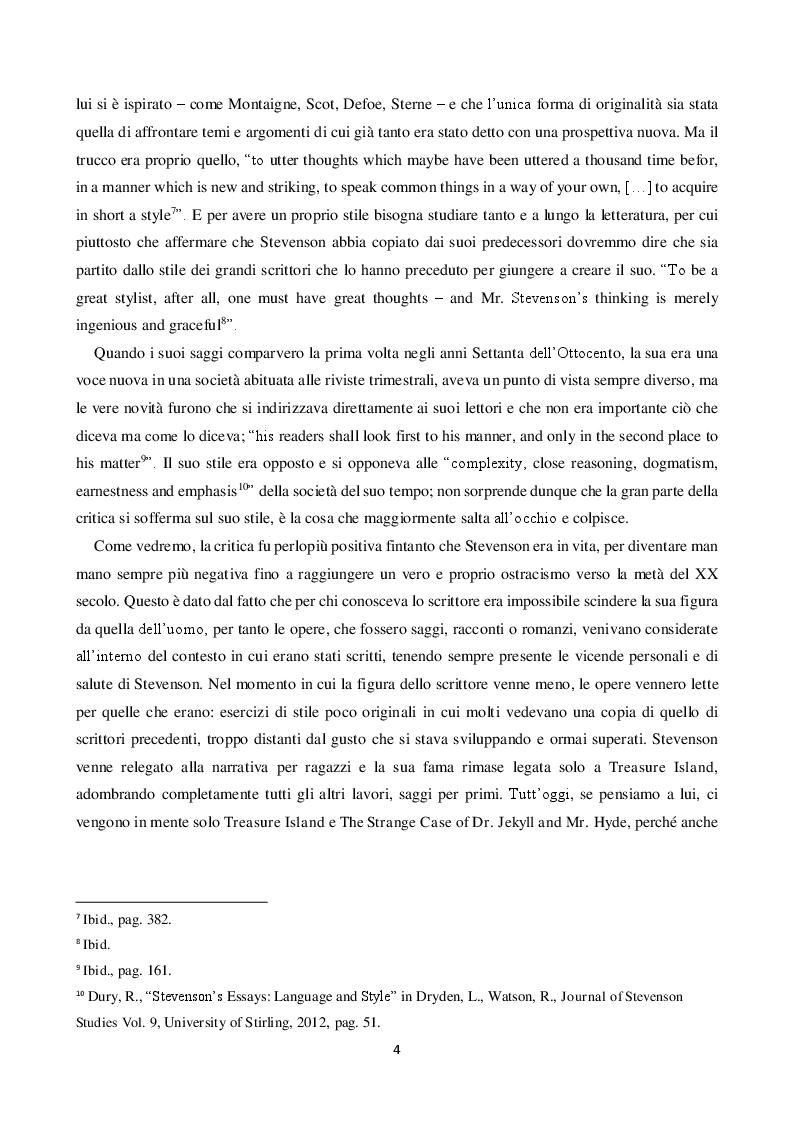 Anteprima della tesi: La teoria estetica di Robert Louis Stevenson, Pagina 3