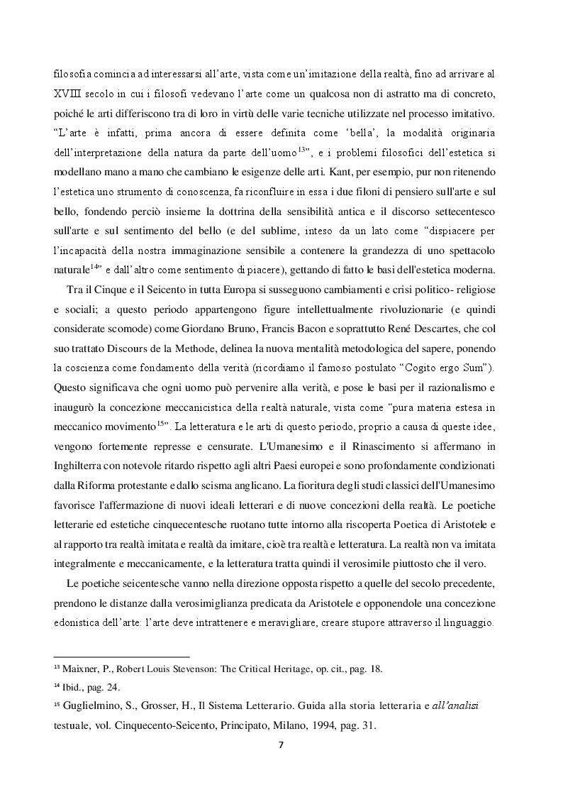 Anteprima della tesi: La teoria estetica di Robert Louis Stevenson, Pagina 6