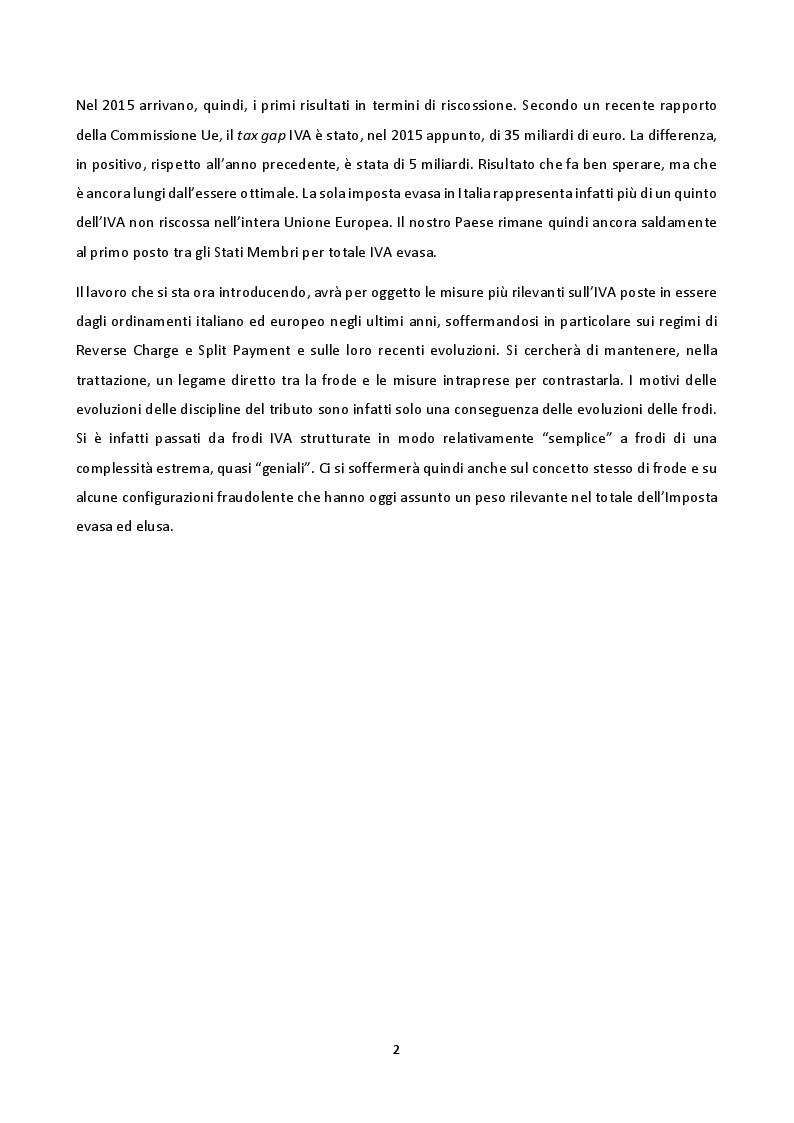 Anteprima della tesi: La disciplina del Reverse Charge e dello Split Payment, Pagina 3