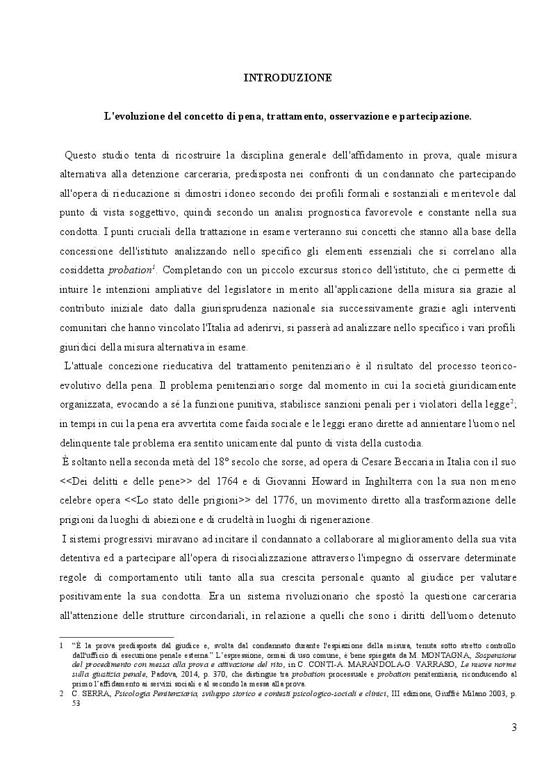 Anteprima della tesi: L'affidamento in Prova al Servizio Sociale: Profili Partecipativi e Giuridici, Pagina 2