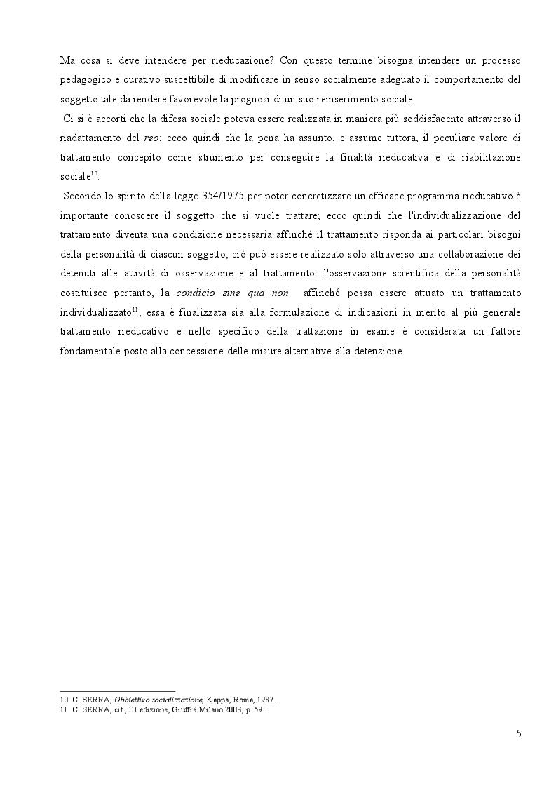 Anteprima della tesi: L'affidamento in Prova al Servizio Sociale: Profili Partecipativi e Giuridici, Pagina 4