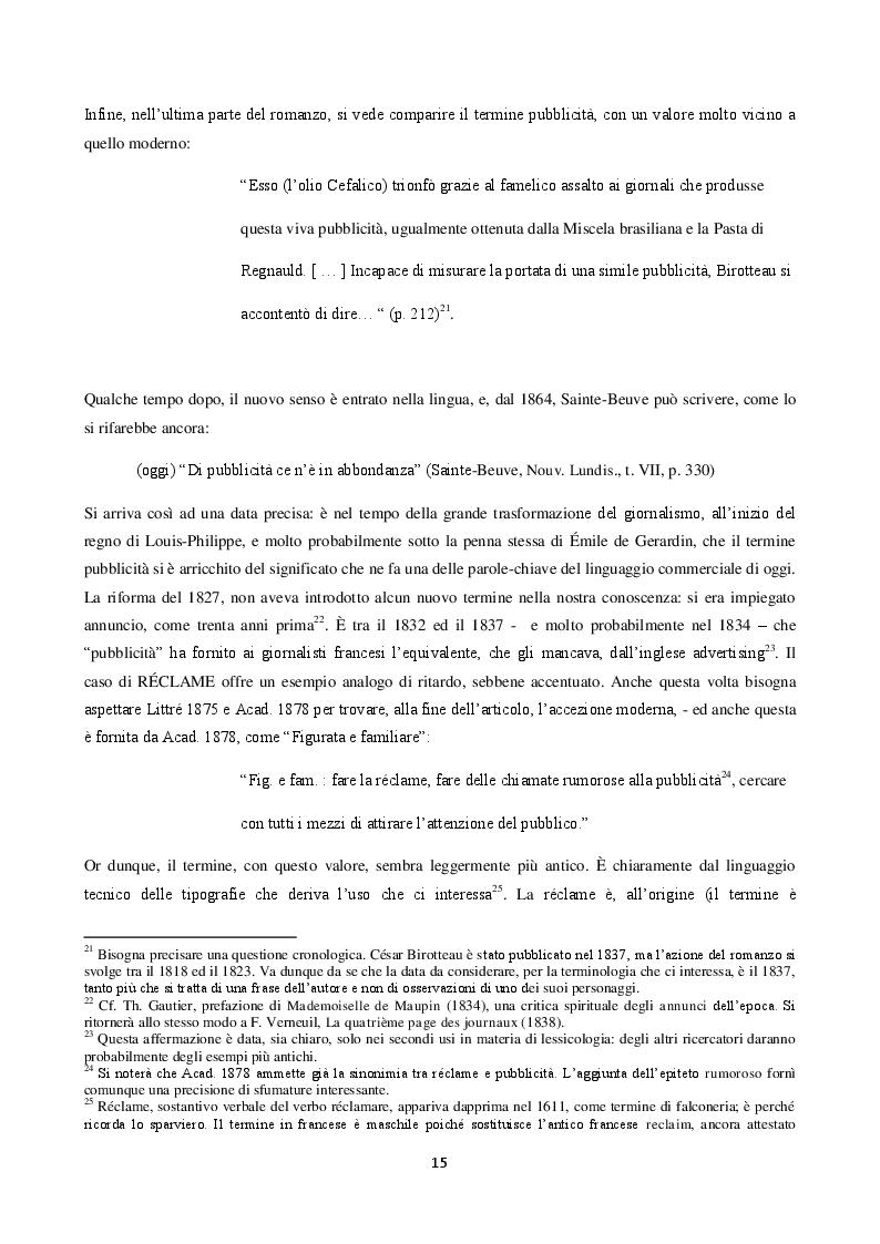 Anteprima della tesi: La langue de la réclame contemporaine - L'eziologia e la genesi della pubblicità francese degli anni '50 e l'analisi del suo codice pioneristico, Pagina 11