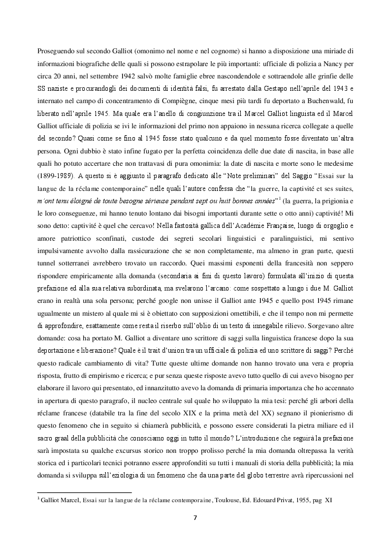 Anteprima della tesi: La langue de la réclame contemporaine - L'eziologia e la genesi della pubblicità francese degli anni '50 e l'analisi del suo codice pioneristico, Pagina 3