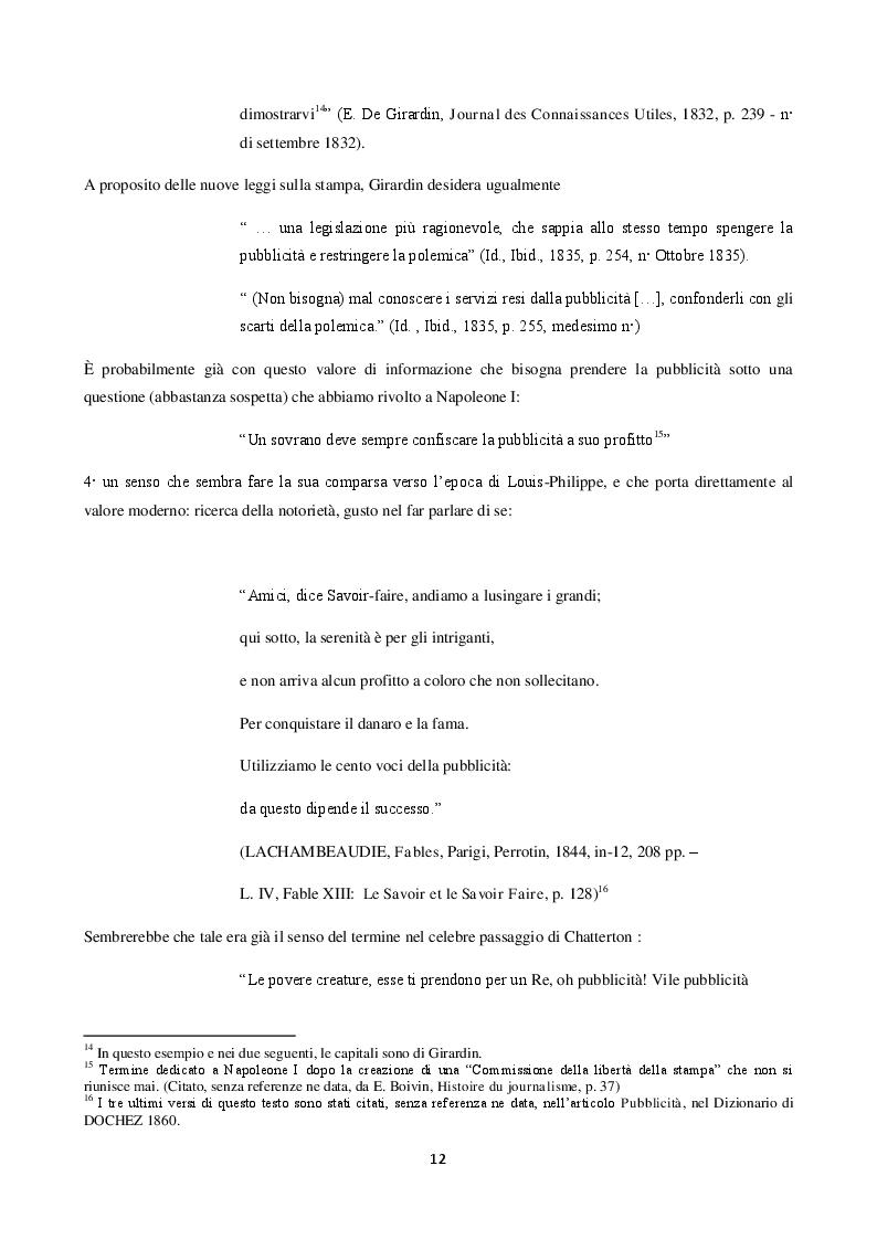 Anteprima della tesi: La langue de la réclame contemporaine - L'eziologia e la genesi della pubblicità francese degli anni '50 e l'analisi del suo codice pioneristico, Pagina 8