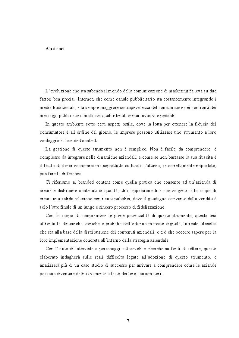 Anteprima della tesi: Branded Content e Branded Entertainment. La marca come Media Company., Pagina 2