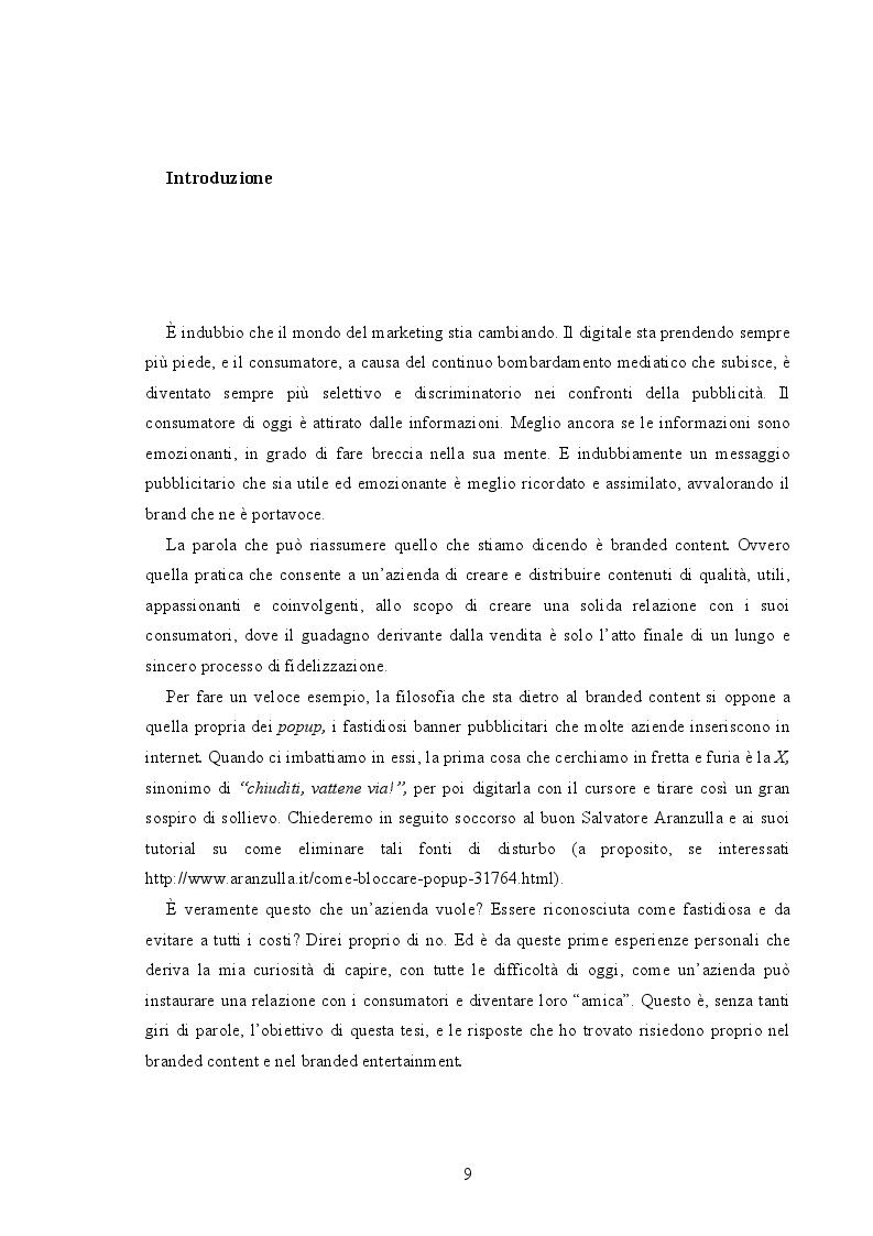 Anteprima della tesi: Branded Content e Branded Entertainment. La marca come Media Company., Pagina 3