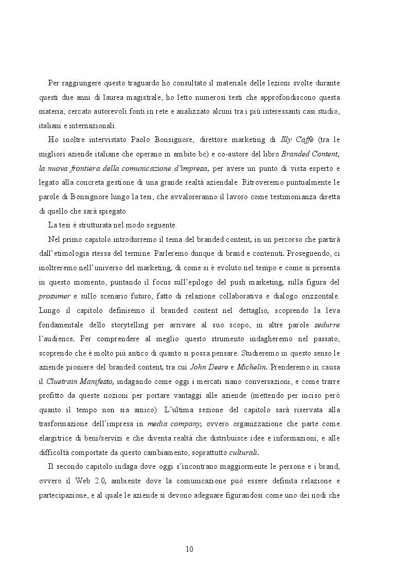 Anteprima della tesi: Branded Content e Branded Entertainment. La marca come Media Company., Pagina 4