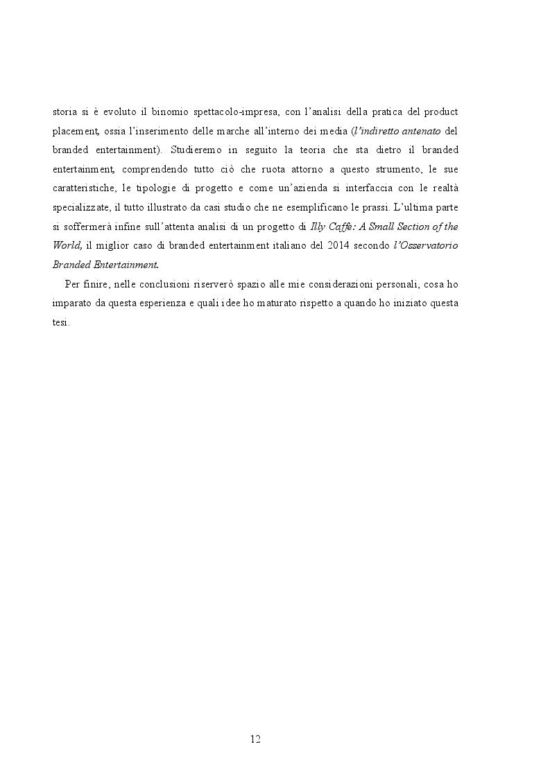 Anteprima della tesi: Branded Content e Branded Entertainment. La marca come Media Company., Pagina 6