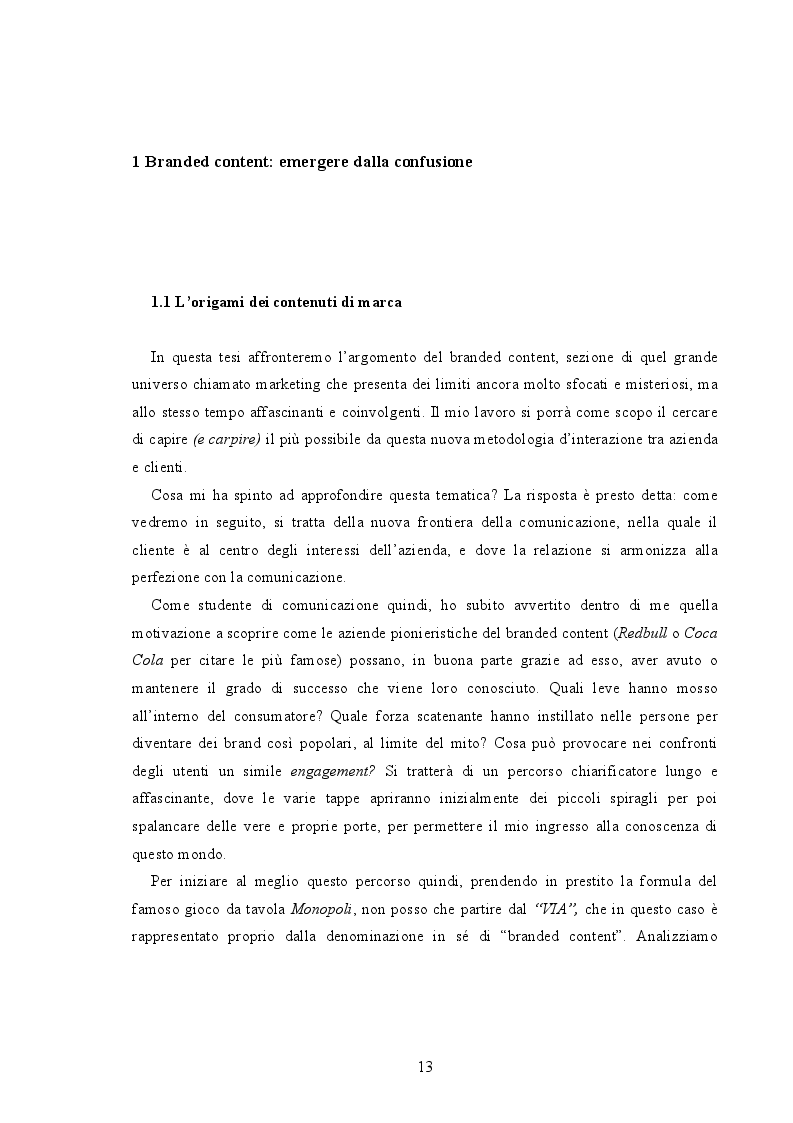 Anteprima della tesi: Branded Content e Branded Entertainment. La marca come Media Company., Pagina 7