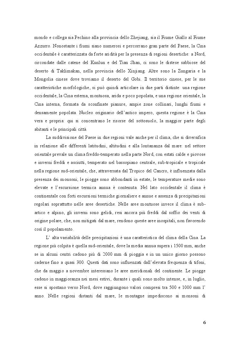 Anteprima della tesi: Aspetti del processo di crescita e di integrazione economica della Repubblica Popolare Cinese: gli investimenti in Italia, Pagina 5