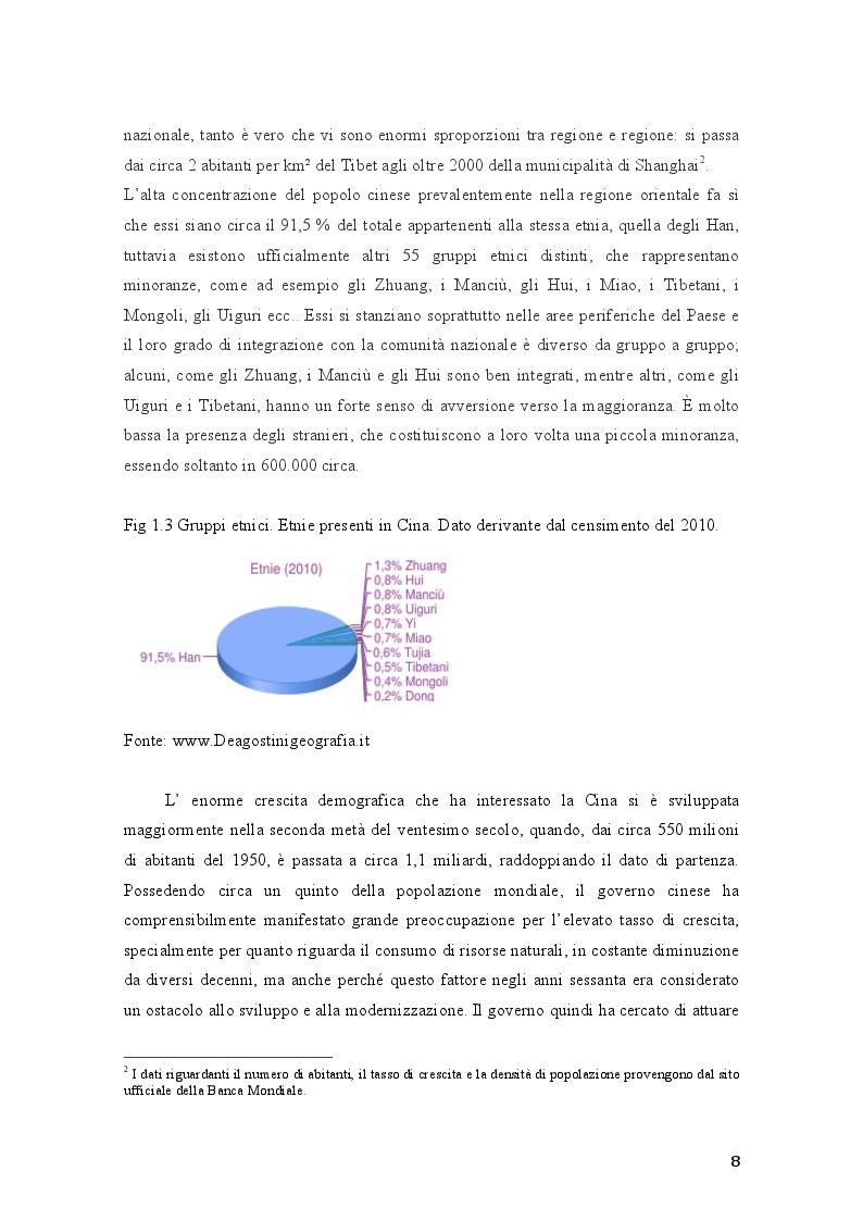 Anteprima della tesi: Aspetti del processo di crescita e di integrazione economica della Repubblica Popolare Cinese: gli investimenti in Italia, Pagina 7