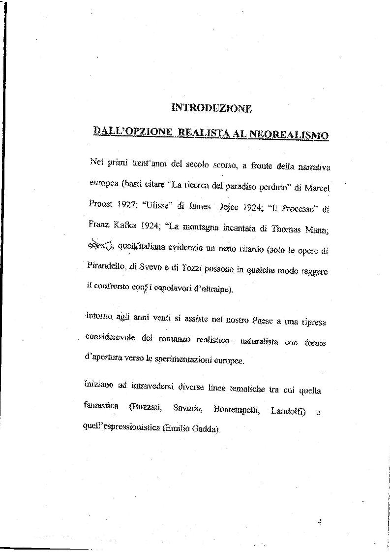 Anteprima della tesi: Le Storie Italiane di Vasco Pratolini, Pagina 2