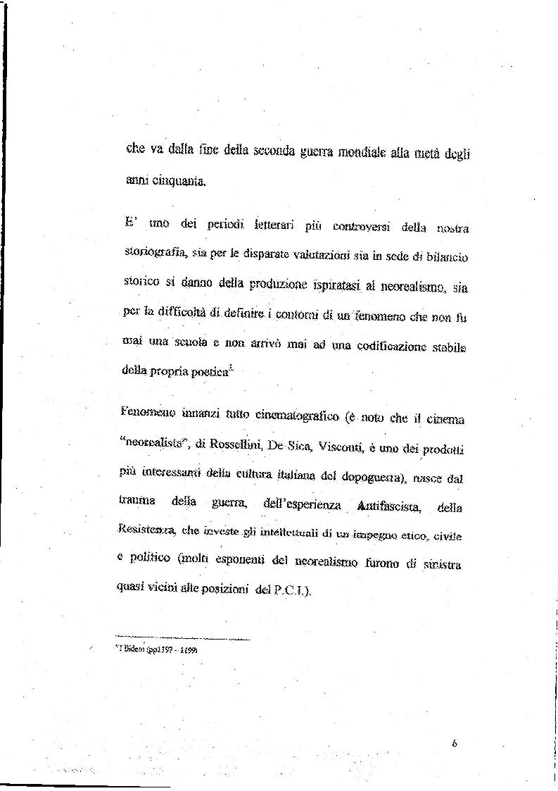 Anteprima della tesi: Le Storie Italiane di Vasco Pratolini, Pagina 4