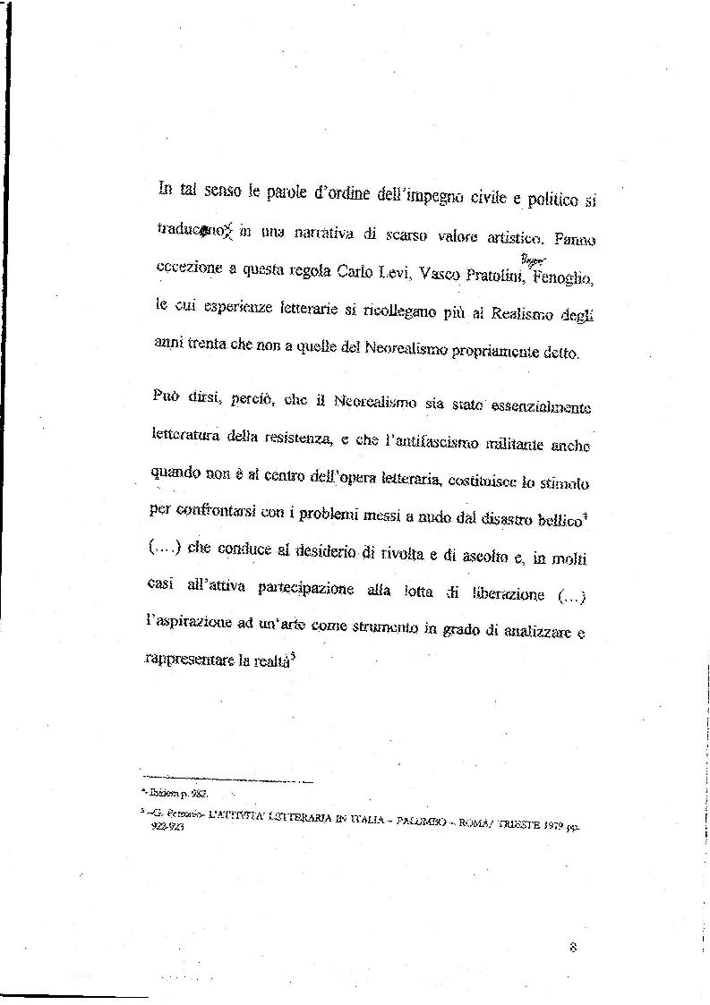 Anteprima della tesi: Le Storie Italiane di Vasco Pratolini, Pagina 6