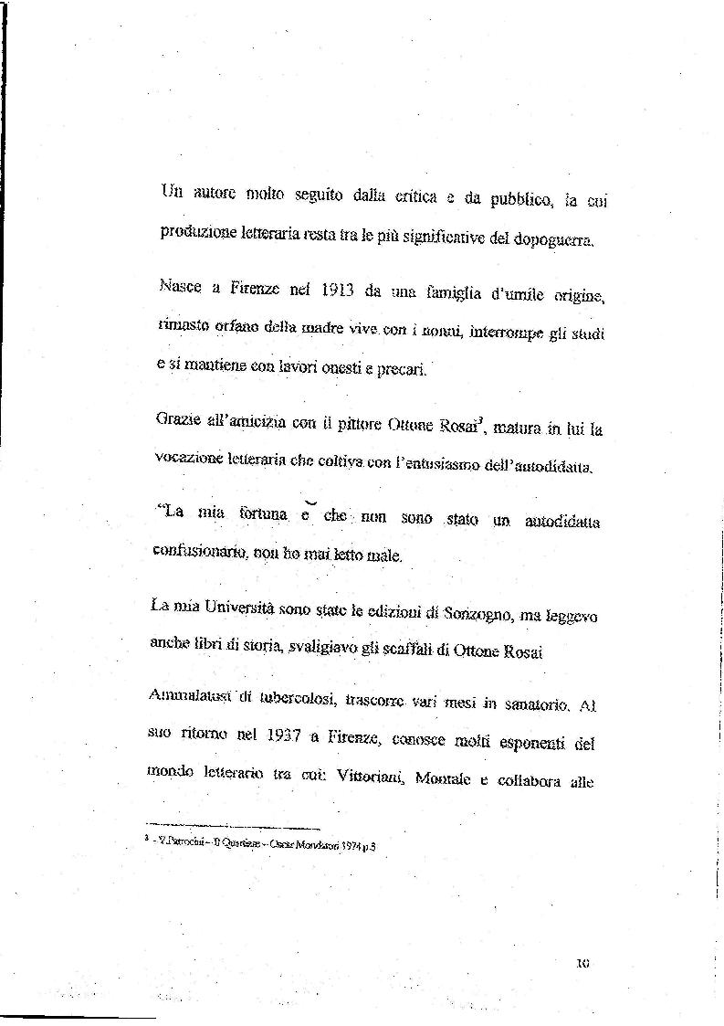 Anteprima della tesi: Le Storie Italiane di Vasco Pratolini, Pagina 8