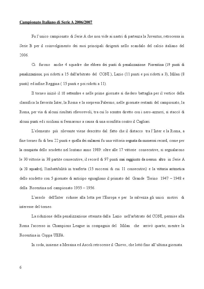 Anteprima della tesi: Analisi Descrittiva sui Campionati Italiani di Calcio di Serie A e B nel Triennio 2006-2009, Pagina 5