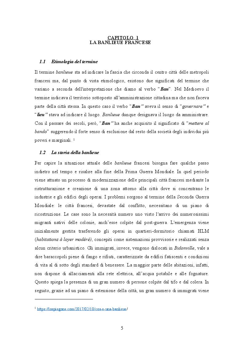 Anteprima della tesi: La banlieue in Francia: analisi storica e socio-linguistica, Pagina 4