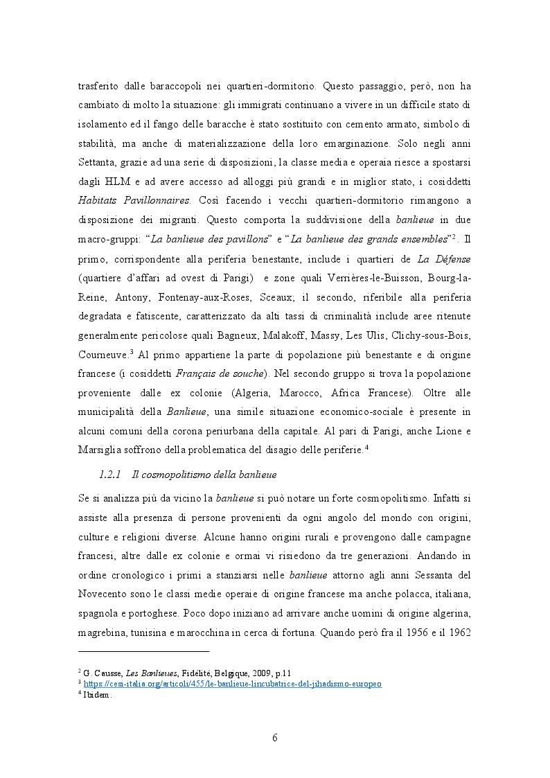 Anteprima della tesi: La banlieue in Francia: analisi storica e socio-linguistica, Pagina 5