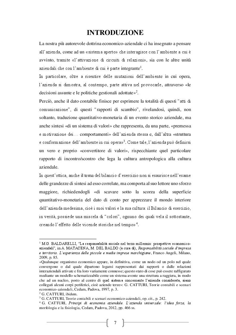 Anteprima della tesi: Il bilancio d'esercizio: novità e criticità emergenti, Pagina 2