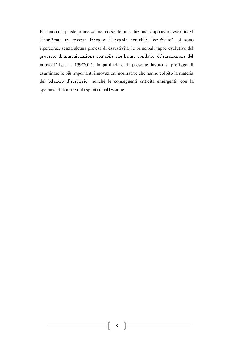 Anteprima della tesi: Il bilancio d'esercizio: novità e criticità emergenti, Pagina 3